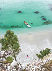 Le Précipice des Envies (ThibaultPoriel) Tags: bretagne france view outdoors beach high coast cliff turquoise crozon europe travel people calm silent blue ocean sea seascape wild exploration
