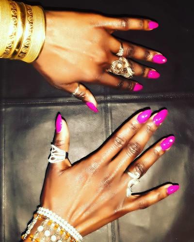 My new nail with lots of beautiful #rings 😀😀 #nailart #nails #nailartclub #nailartlover ❤❤❤❤