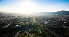 Tehran highway (\Nicolas/) Tags: teheran tehran milad tower view panorama sunset highway freeway trafic mountain iran
