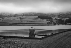 Kinder Reservoir (l4ts) Tags: landscape derbyshire peakdistrict darkpeak kinderscout kinderhead kinderreservoir valvehouse lowcloud snow longexposure 10stopfilter blackwhite