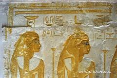 Goddesses and sisters (konde) Tags: 18thdynasty newkingdom mayaandmeryt saqqara tomb mayaandmerit ancient isis nepthys nephtys goddess relief hieroglyphs