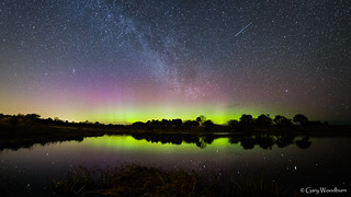 Quarry Lights - Aurora Borealis & Milky Way, Embleton Quarry, Northumberland