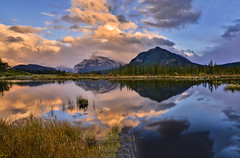 Glad I got up (NUNZG) Tags: mountain outdoor lake sunrise clouds landscape nature banff alberta canadian rockies sky water