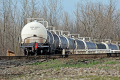 Tank Cars on the Rear at Bucyrus (craigsanders429) Tags: norfolksoutherntrains norfolksouthern tankcars nssanduskydistrict bucyrusohio colsan