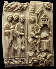 Gone (campra) Tags: germany deutschland cologne koln koeln museum schnutgen schnuetgen middle ages medieval sculpture ivory prayer angel grave sepulchre empty