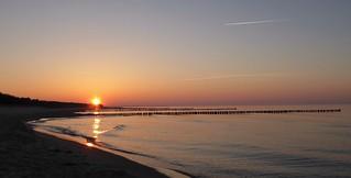 Sonnenuntergang am Strand in Zingst