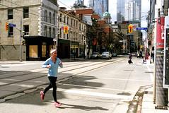 Morning Run Across King (Bill Smith1) Tags: agfavista400 believeinfilm billsmithsphotography heyfsc nikkormatel toronto nikkoro35f2lens