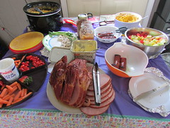 Easter 2017 (creed_400) Tags: easter hubbartson michigan april spring food ham sausage