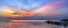 The Red Phoenix (Ah Wei (Lung Wei)) Tags: penang penangisland georgetown pulaupinang malaysia georgetownpenang my sunrises sunrise sunset sunsets landscape shore clouds seashore seascape nikon50mmf18g 50mmf18g nikond750 nikon ahweilungwei penangbridge karpalsinghdrive persiarankarpalsingh panorama panoramic