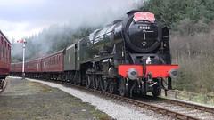 LMS No.46100 'Royal Scot' approaching Levisham [NYMR] on 2nd April 2017 (soberhill) Tags: northyorkshiremoorsrailway nymr lms 46100 royalscot grosmont pickering railway steam train locomotive levisham 2017