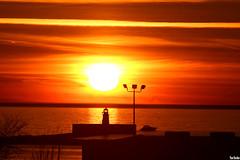 Lake Sunset (Thom Sheridan) Tags: thomsheridan greatlakes lakeerie cleveland 2017 dusk lighthouse