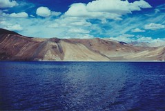 (rqlevy) Tags: canon ftb 35mm fuji slidefilm crossprocessed xpro analog pangongtso glaciallake ladakh india summer travel explore nature landscape water adventure mountains