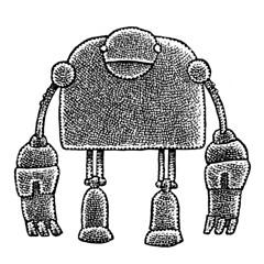 Bulky (Don Moyer) Tags: robot ink drawing sketchbook moyer donmoyer brushpen