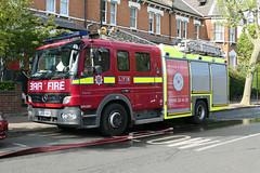 LK56 AAU (Emergency_Vehicles) Tags: lk56aau london fire brigade lfb dpl 1207 dual purpose ladder mercedes 1325 walthamstow