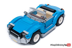 10252 alternate cabrio (KEEP_ON_BRICKING) Tags: lego creator expert 10252 alternate cabrio car moc legomoc dark azure