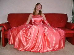 Satin super skirt (Paula Satijn) Tags: girl young lady blond blonde orange satin silk dress gown ballgown shiny skirt beauty gorgeous elegance feminine girly pretty class cute sweet glamour glamorous
