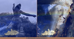 Gathered Elements (andrefromont) Tags: andréfromont andrefromontfernandomort fernandomort diptych diptyque meditation méditation source spring sculpture jeflambeaux nuage cloud