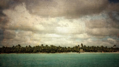 Saona Island (Santo Domingo) (vittorio.chiampan) Tags: pictorialism landscape island caribe sea seascape palms clouds fineart