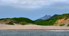 sandy shoreline of cape kambal'nyy, kamchatka (Russell Scott Images) Tags: cape mys kambal'nyy kamchatkapeninsula russianfareast russia