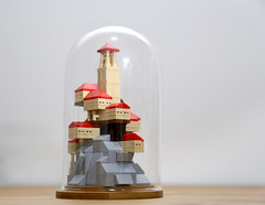 lego town in a galss dome (ocean the builder) Tags: lego micro moc
