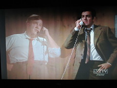 Typical Holographic Phone Conversation Mannix 4668 (Brechtbug) Tags: mike connors joe mannix phone with holographic apparition judge 1960s 1970s 60s 70s tv show episode 04222017 nyc metv new york city 2017 ghost anti split screens screen grab screengrab conversation fictitious bogus silly transparent