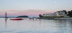 Margaret Todd Sunset (greggohanian) Tags: barharbor margarettodd tigershark sunset moonrise sailboat lobsterboat hotel dock island harbor maine coastal coastalmaine downeast fullmoon schooner sail