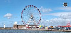 An Eye for the Summer (alun.disley@ntlworld.com) Tags: bigwheel attraction height rivermersey liverpool wirral newbrighton fortperchrock water views vistas amusement entertainment newbrightonlighthouse seaside beach