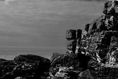 corner (AngharadW) Tags: corner mono lavernockpoint southwales angharadw sea sky rocks devon horizon coastline cloud bristol channel
