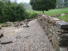 WM Matt Norton 1, Retaining wall, dry laid stone construction, copyright 2014