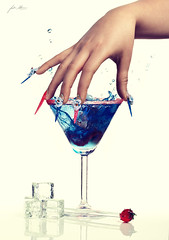 Cocktail Hour (Jodie Mann) Tags: pink blue summer art ice water beauty spring cool model colours hand tech bright drink nail fingers fresh cocktail hour splash delicate stilettos