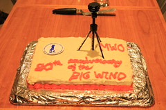 Big Wind Anniversary Cake (rightthewrong) Tags: new white mountains cake washington big mt wind anniversary year peak nh hampshire presidential mount observatory summit april 80 80th range mph anemometer apr obs 2014 231 mwo presidentials