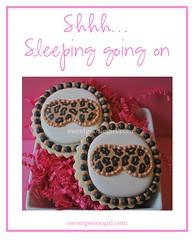Slumber Party Sleep Masks (Sweet Goosie Girl) Tags: birthday party eye girl mask sleep slumber cheetah sleepover decoratedsugarcookies