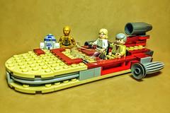 Lego Landspeeder (Evan MacPhail Photography) Tags: see lego ben fig luke mini ps r2d2 figure obi express wan landspeeder c3po skywalker iphone kenobi threepio seethreepio minfig snapseed