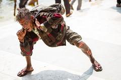 Crouching Crazy, Hidden Taka (Universal Stopping Point) Tags: pose crazy cut homeless oldman beggar knee bangladesh crouching bagerhat mentallyunstable