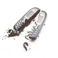 Mud phone (GrahamvdR) Tags: phone mud earth cellphone cell soil earthworm chongololo