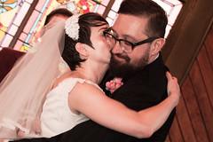 Wedding - Angie and Eric PDX-25.jpg (Lucas Swick) Tags: wedding portland groom bride kiss marriage husband wife pdx moment firstkiss oakspioneerchurch