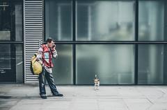 A dog and his man... (Tasdik) Tags: london streetphotography fujifilm colourstreetphotography