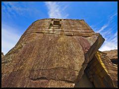 P3aa221945 Machu Picchu Lima  Peru (camera30f) Tags: blue sky brown peru machu picchu inca stone yahoo google holidays flickr lima photos religion baidu prehispanic prespanish