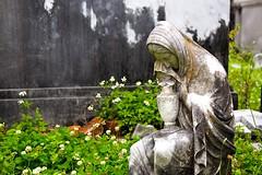 Weeping in the Weeds. (HairySucker) Tags: old cemetery death weeds decay neworleans statues iseedeadpeople weeping lafayettecemetery1