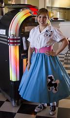 Southern Flyer Diner - ::: Explored ::: - 20140430 (Trudy -) Tags: girl female airport brenham poodleskirt southernflyerdiner