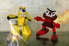 Lego Mixels Electroid Teslo & Infernite Zorch (Evan MacPhail Photography) Tags: lens toy photography lego ps express fx iphone zorch infernite teslo electroid snapseed mixels