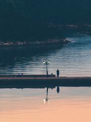 Silhouette (drymna) Tags: light sunset shadow orange silhouette yellow greek daylight fishing fisherman peace greece flickrdiamond top20greece trizonia
