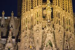 La Sagrada Familia at night (San Diego Shooter) Tags: barcelona architecture spain europe gaudi sagradafamilia lasagradafamilia nathanrupertspain2014nobull nathanrupert2014spainwithbull