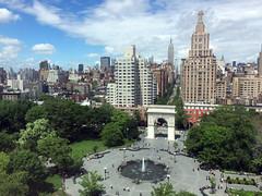 2014_06_05_nyc-from-nyu_16 (dsearls) Tags: park nyc blue ny newyork green fountain skyline spring arch manhattan washingtonsquarepark washingtonsquare nyu lush builidings 20140605