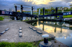 Reflections In The Lock (Andy Gough 01) Tags: sunset hdr landscapephotography hdrphotography