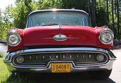 1957 Oldsmobile 88 face (crusaderstgeorge) Tags: red cars sweden gävle 1957 88 classiccars oldsmobile americancars americanclassiccars 1957oldsmobile88