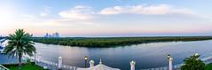 panorama_mangrove-1 (Dyo Sadim) Tags: street sunset sky panorama lake parks places landmark abudhabi corniche salam mangroove dyadyosadim