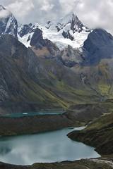 Jirishanca Chico, and two of the 'three lakes'.