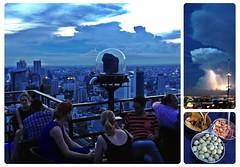 ครึ้มฟ้าครึ้มฝน (Danburg Murmur) Tags: sunset sky storm rooftop skyline clouds thailand triptych bangkok mosaic stripes spoon thunderstorm lightning railing bowls nibbles krungthepmahanakhon banyantreehotel ราชอาณาจักรไทย ประเทศไทย กรุงเทพมหานคร prathetthai kingdomofthailand vertigomoonbar