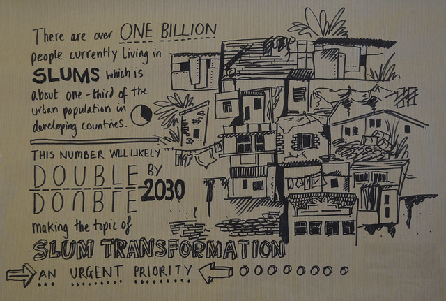 The issue of slum transformation illustrated by Lindsay Noble